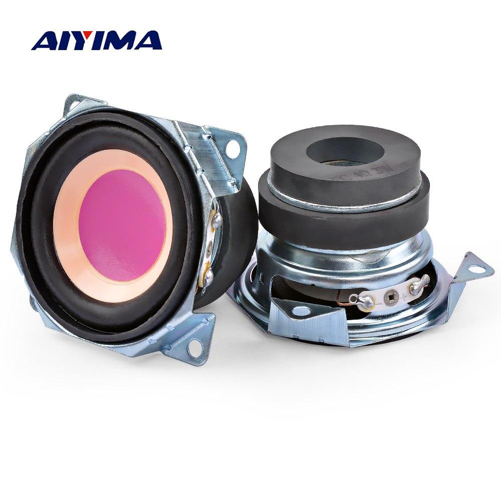 AIYIMA 2 uds 2 pulgadas de Audio Mini altavoces portátiles 4 Ohm...