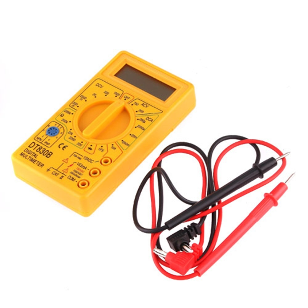 LCD voltímetro Digital ohmetro amperímetro multímetro de mano Tester AC CC home tester DT830B envío gratis