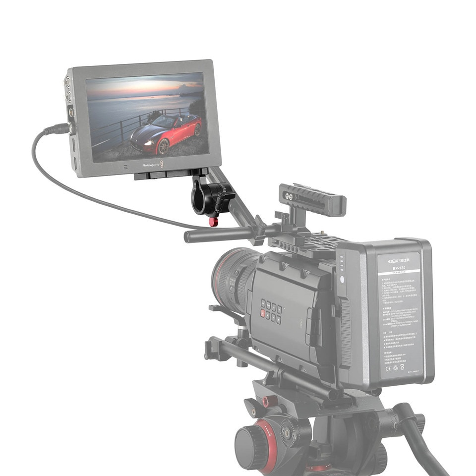 SmallRig EVF Mount LCD Monitor L Bracket with Nato Clamp for BMVA/ SmallHD 502HD/Zacuto Gratical HD Monitor - 1594 enlarge