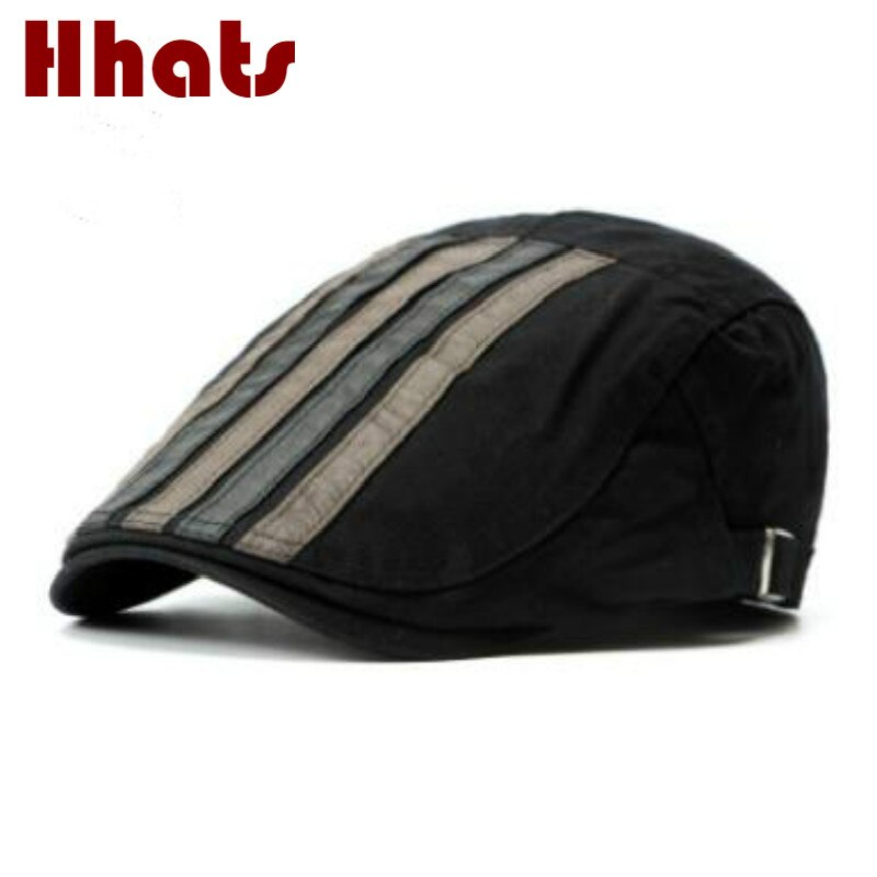 winter spring breathable striped beret women men flat peaked cap outdoor fashion flat cap newsboy ca