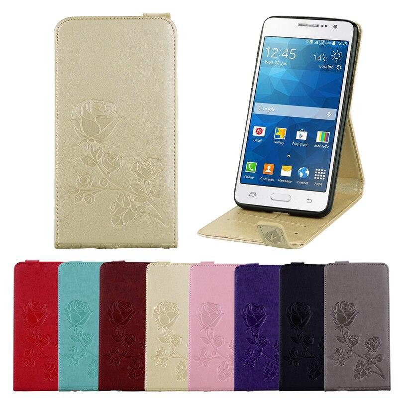 De lujo de la cubierta del cuero del tirón de funda para Samsung Galaxy Grand Prime Duos G530 G530F G530H G531 G531H G531F cartera tarjeta caso