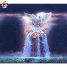 Bricolage perles kits diamant photos amour perles broderie peinture diamant motif cubo rubik ange série ange oiseau