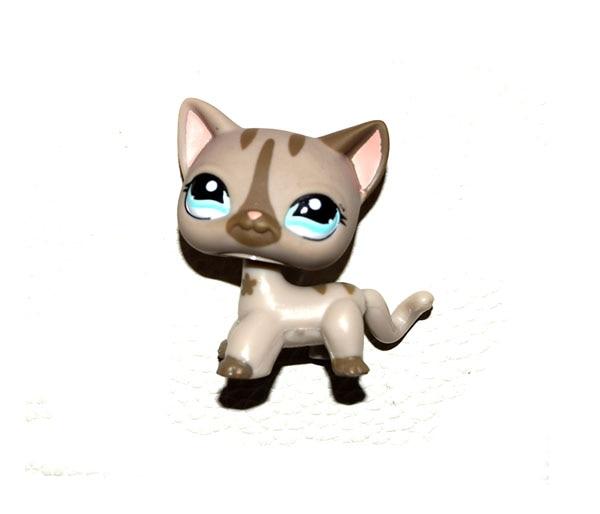 Animal tienda de mascotas gato a rayas gris figura suelta niño niña juguete