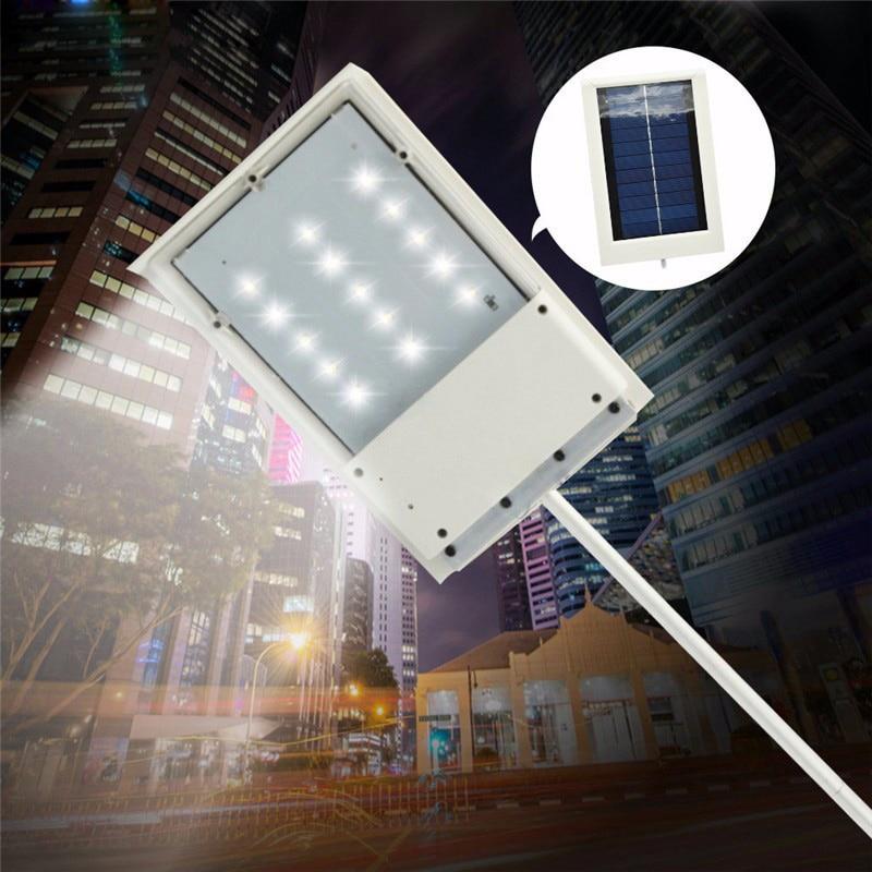Luz de calle 15LED para exteriores, lámpara de pared para Sendero de jardín, lámpara LED de emergencia, Sensor de lámpara solar, Panel luminaria WY 2 pedidos