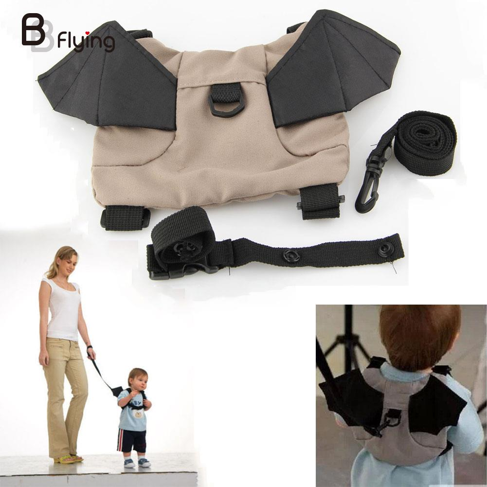 2018 nuevo bebé niño murciélago caminar arnés de seguridad Rein mochila Walker amigo Correa bolsa ligero cómodo agarre