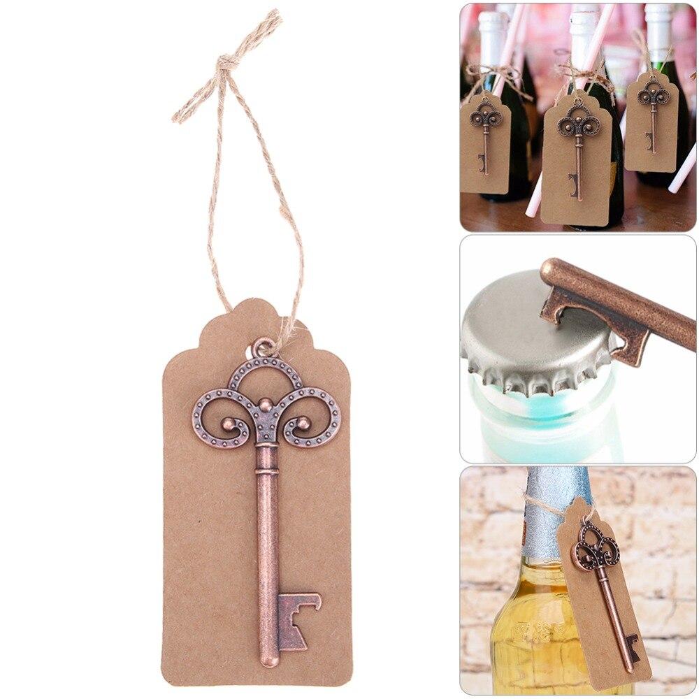 12 teile/satz Hochzeit Souvenirs Wein Flasche Opener mit Tags Party Hochzeit Gefälligkeiten Geschenke für Gast Geburtstag Lieferungen