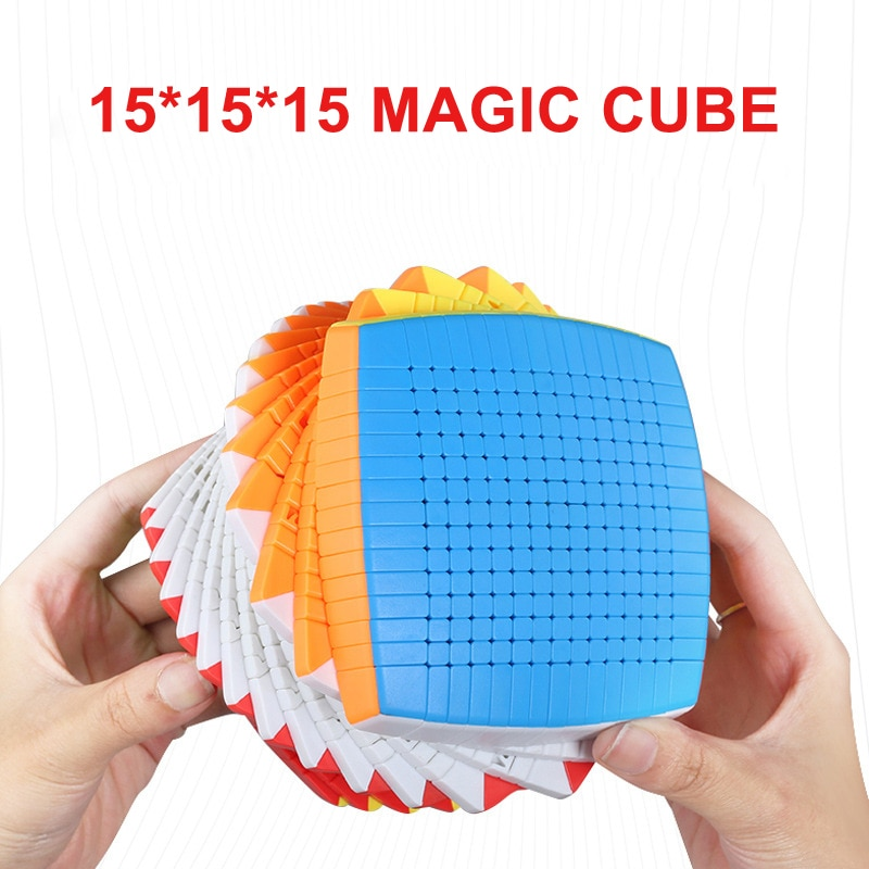 SHENGSHOU 15 capas Stickerless 15x15x15 cubo mágico velocidad rompecabezas 15*15 cubo juguetes educativos regalo cubo mágico 106mm