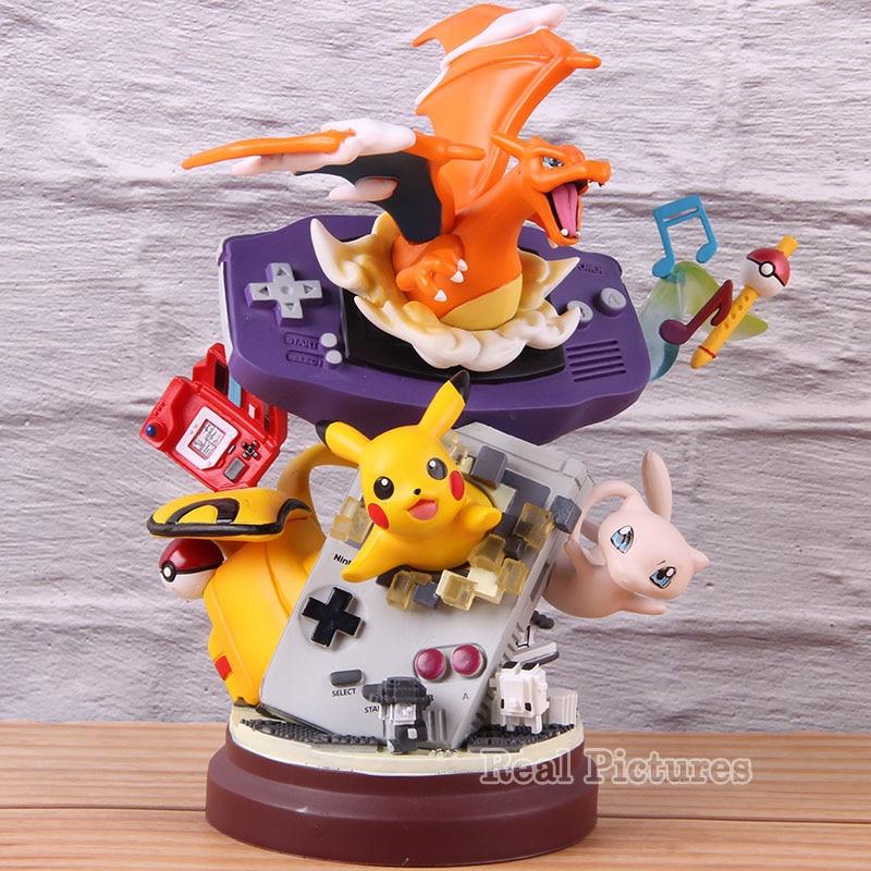 Máquina de juego pika Charizard figura de acción Anime GK estatua PVC coleccionable modelo de juguete Monsters Pickachu Charizard Decoración