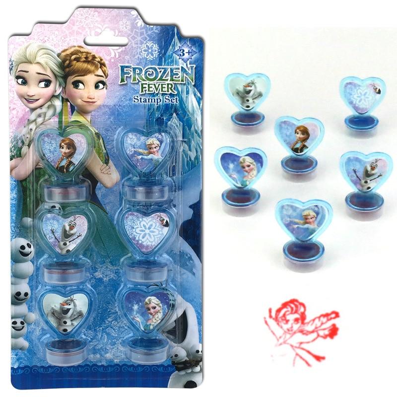 aliexpress.com - Disney 6PCS Frozen Princess Aisha Spiderman   cartoon stamped   children's toy seal Drawing tools  art supplies toys gift