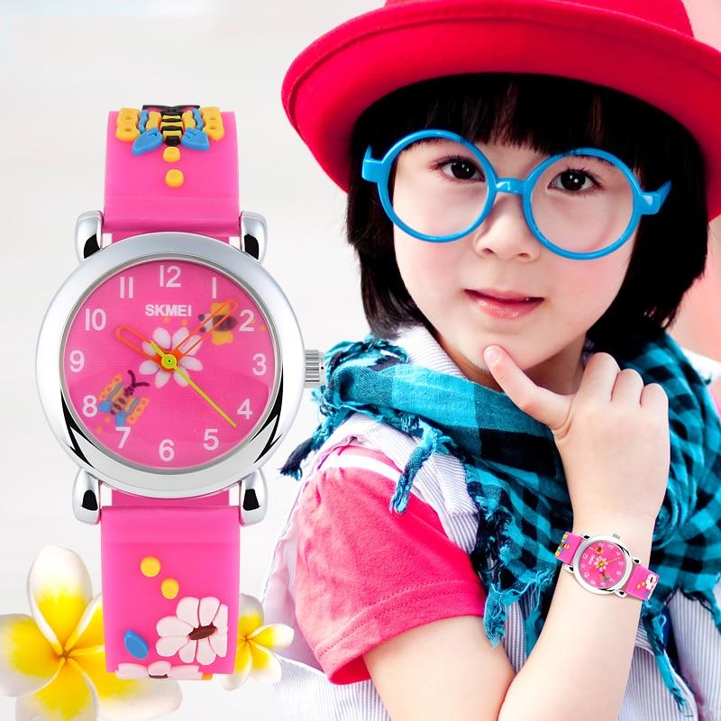 Skmei детские часы брендовые модные повседневные часы кварцевые наручные часы водонепроницаемые желеобразные детские часы для мальчиков и д...