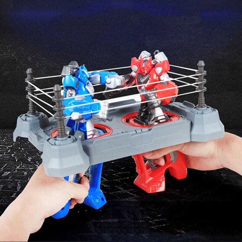 Robot de Arena para boxeo de batalla RC de doble jugador, Robot de combate de control remoto con dedos, juguete interactivo para padres e hijos