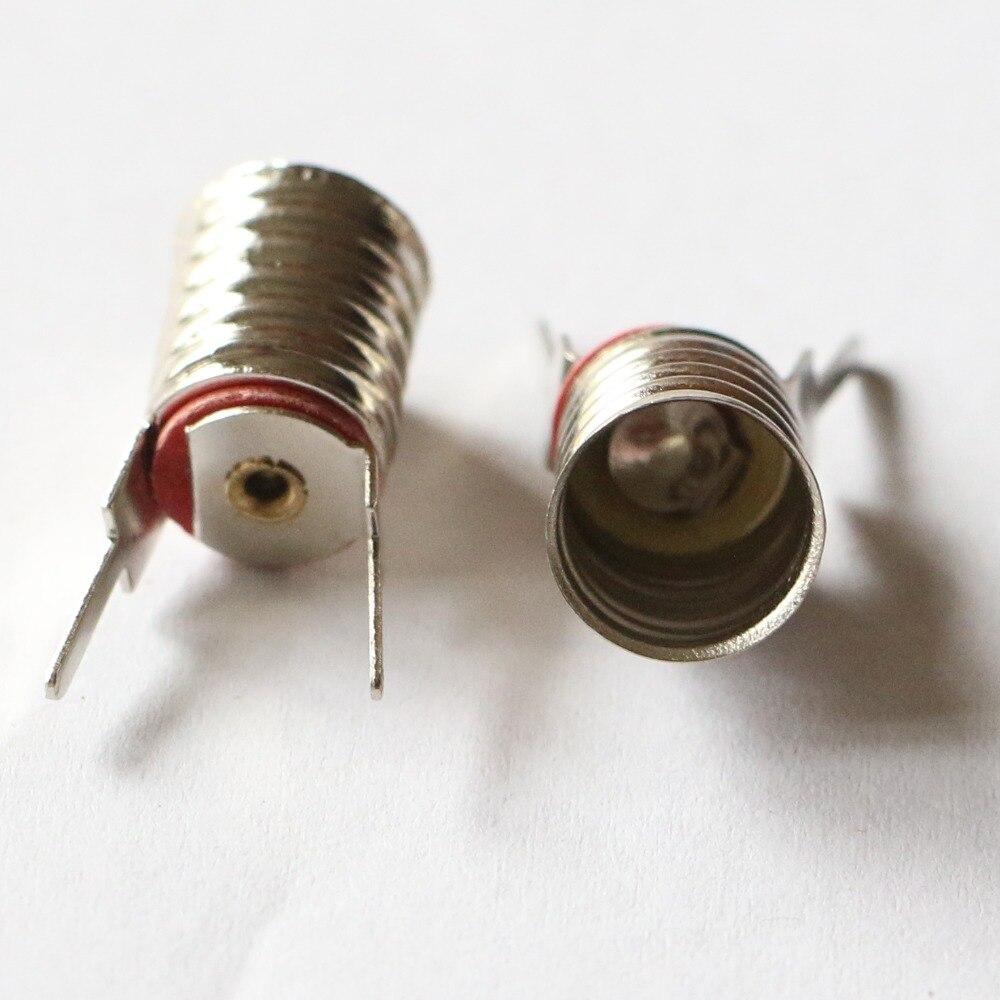 E10 lamp licht houder base schroef met soldeerpennen