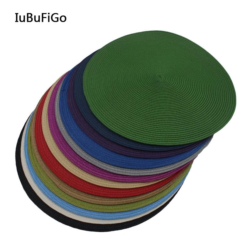 40*40 см Мода PP круглая основа Вуалетка база Millinery Acc для головной убор #13 цветов