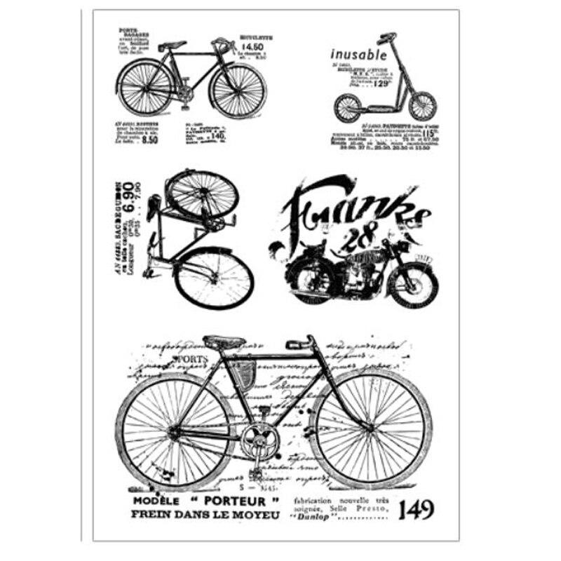 ZFPARTY винтажная велосипедная Прозрачная силиконовая печать/печать для скрапбукинга/фото декоративная открытка для альбома
