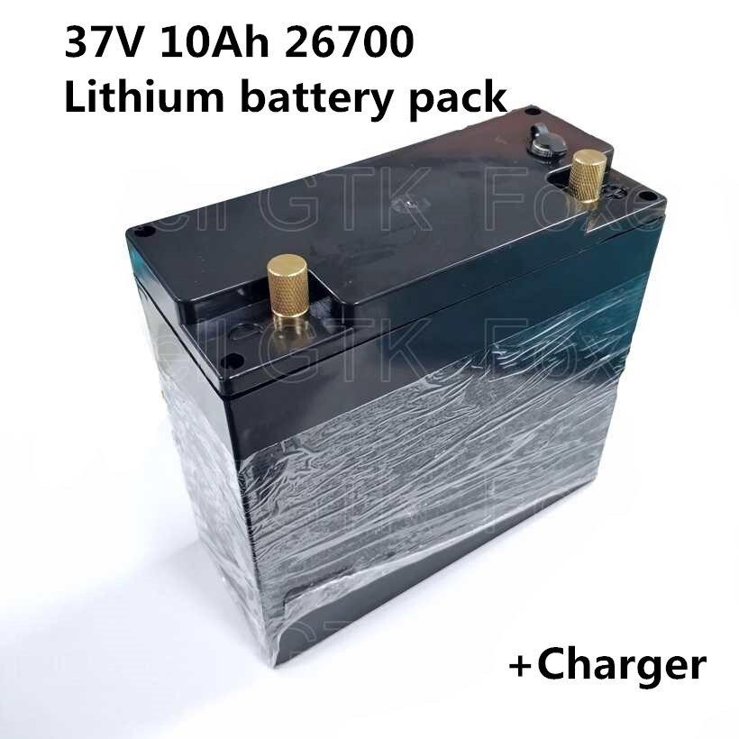 Paquete de baterías 10S 26700 37V 36V 10Ah para bicicletas eléctricas, suministro de energía móvil, luz de bicicleta, dispositivo de control médico de arranque para motocicletas