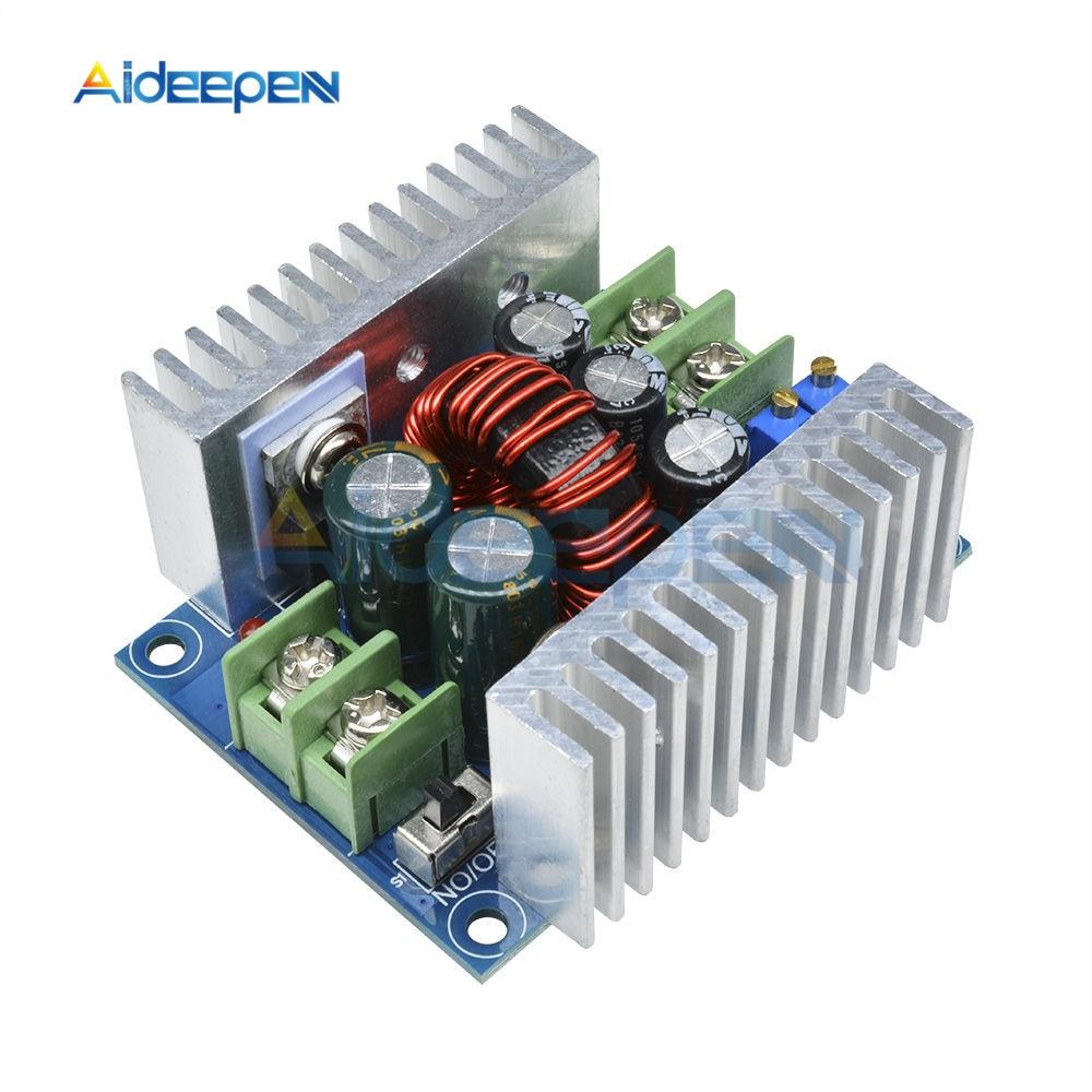 DC-DC buck conversor step down módulo 300w 20a corrente constante led driver de alimentação step down módulo tensão capacitor eletrolítico