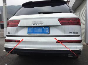 Car-styling For Audi Q7 2016 2017 Stainless Rear Tailgate Door Trunk Gate Bottom Lid Cover Trim Strip 1pcs High quality