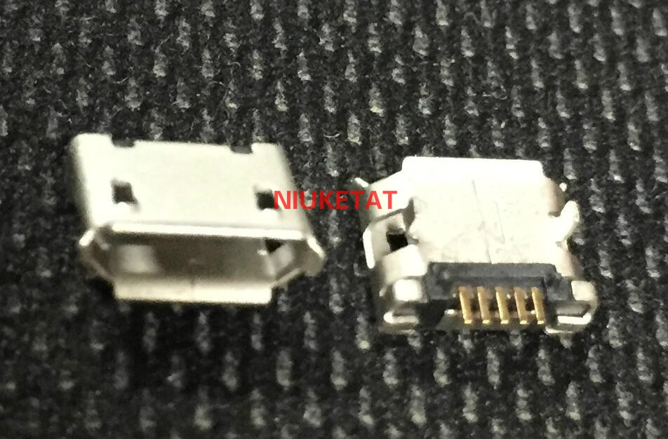 100 Uds micro USB mini conector 5pin DIP 2leg aguja larga 5P DIP2 puerto de datos puerto de carga mini usb conector para el enchufe final móvil