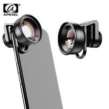 Apexel hd óptica 100mm macro lente da câmera lente do telefone 10x super macro lentes para iphonex xs max samsung xiaomi huawei celular