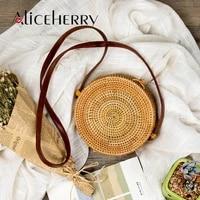 luxury woman bag brand round straw bags women summer rattan bag handmade woven beach cross body bag circle bohemia handbag bali