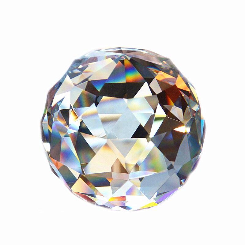 60 мм Кварцевый хрустальный стеклянный Ограненный шар, натуральные камни и минералы, кристаллы фэн-шуй, шары, домашнее украшение, Ловец снов