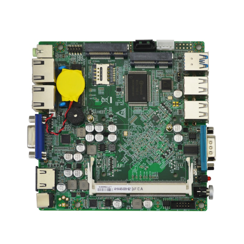 EP 2120-02 + disipador de calor J1800 procesador de doble núcleo nano itx placa base ddr3L 2 * LAN USB2.0 3,0 2 * MINI PCIE soporte wifi/3G/4G/Msata