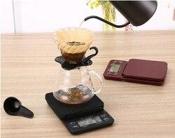 FeiC, 1 штука, Hario стиль, кофейные капельные весы/таймер, цифровые кухонные весы, 3000 г/0,1 г, для выпечки, для приготовления пищи, для бариста