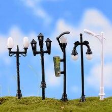 Nova venda quente miniaturas jardim mini lâmpada de rua de fadas musgo terrários desktop garrafa jardim resina artesanato