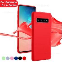 Zurück Abdeckung Fall Für Samsung Galaxy S 10 plus 9 plus 8 plus 10e 8 9 10 S8 S9 S10 plus S10E Note8 Note9 Hinweis 8 9 Weichen Schutz Fall