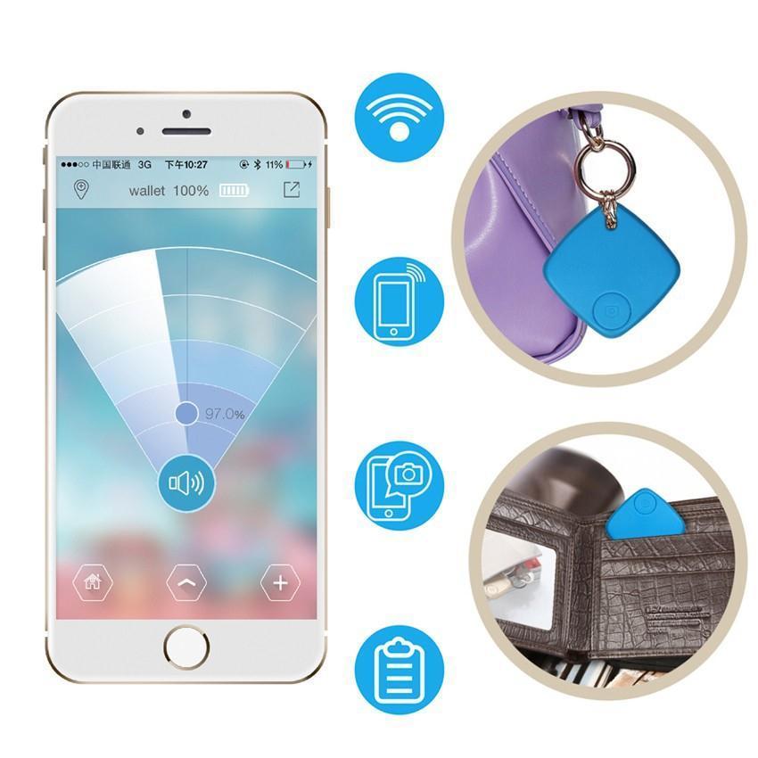 Seguidor Bluetooth inalámbrico cartera para niños etiqueta para llave de mascotas localizador inteligente GPS alarma anti-perdida recordatorio temporizador automático Bluetooth