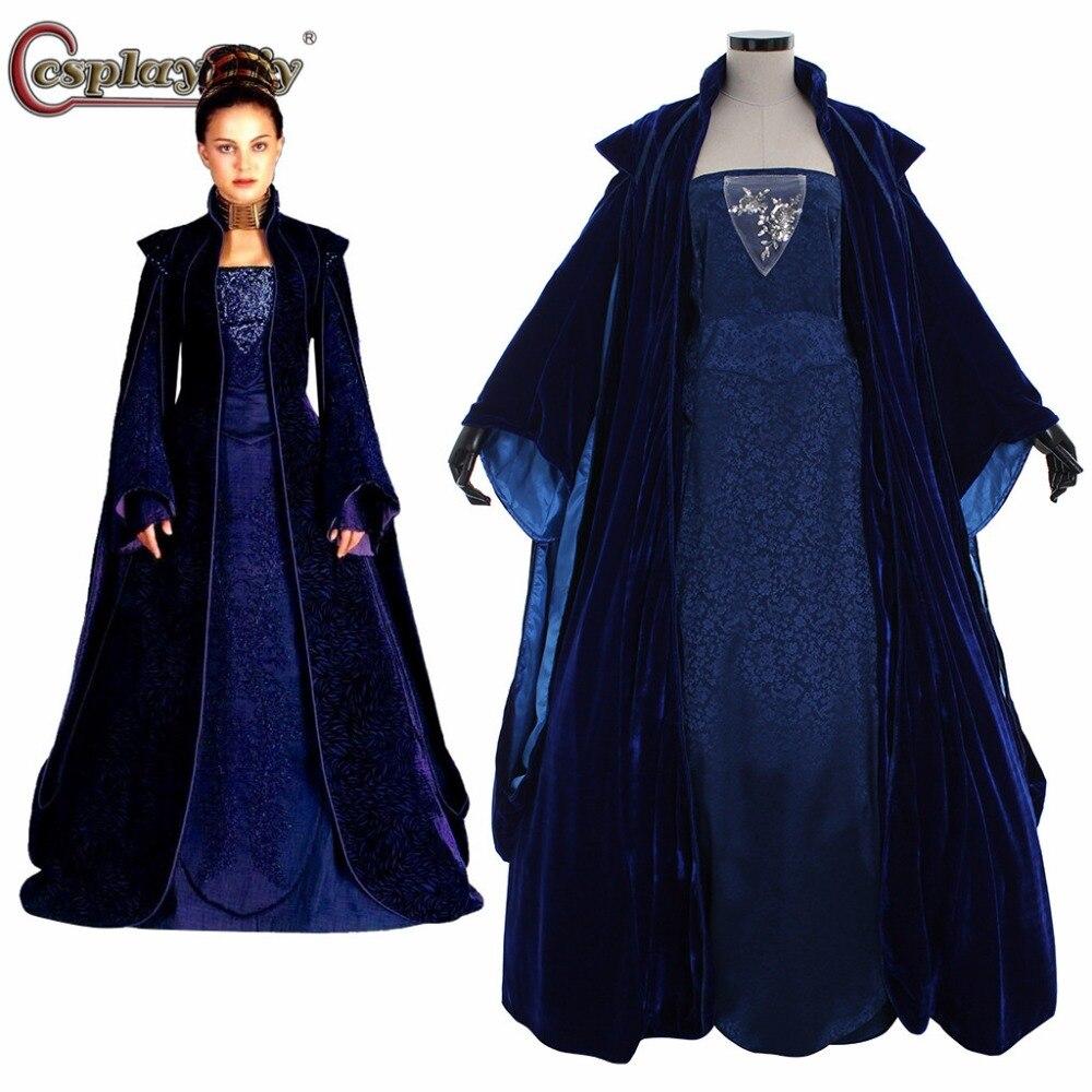 Маскарадный костюм «сделай сам», «Звездные войны», «Королева Падме», «Naberrie Amidala Wars», голубое платье, женское платье Виктории на Хэллоуин, на ...