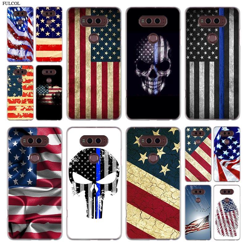 Azul americano carcasa de teléfono de bandera para LG Q6 un G7 G6 G5 G4 G3 V30 V20 K8 K8 K10 2018 K10 K8 2017 STYLO 3 M700 cubierta