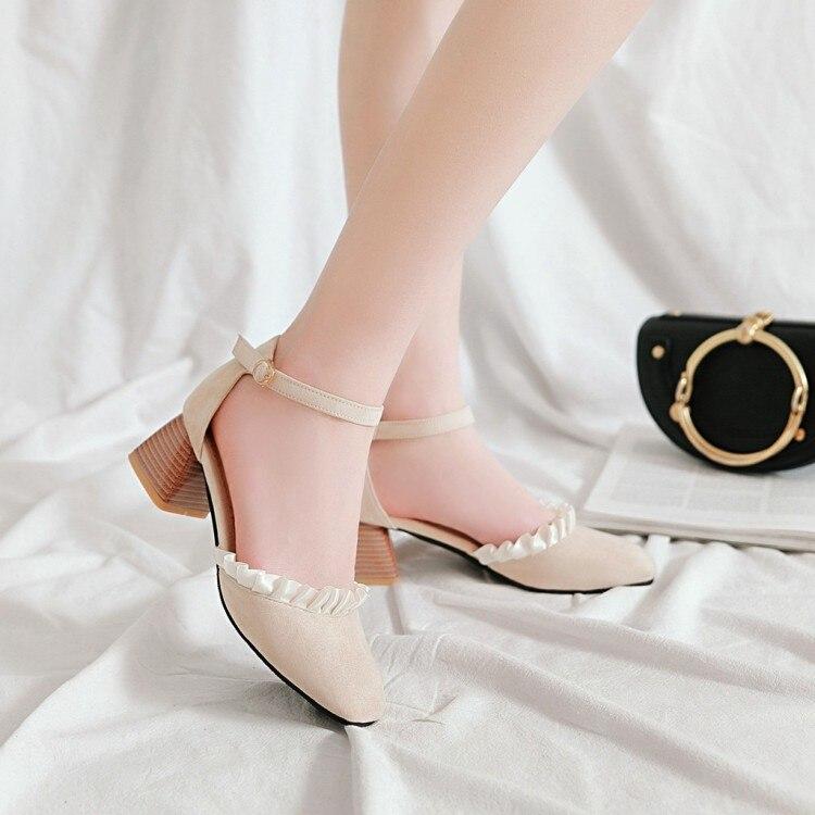Sandalias de tacón alto de talla grande 11 12 para mujer zapatos de verano para mujer hebilla