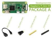 Raspberry Pi Zero W Package A Basic Development Kit Mini HDMI to HDMI Adapter Micro USB OTG Cable and 2x20-pin pinheader strips