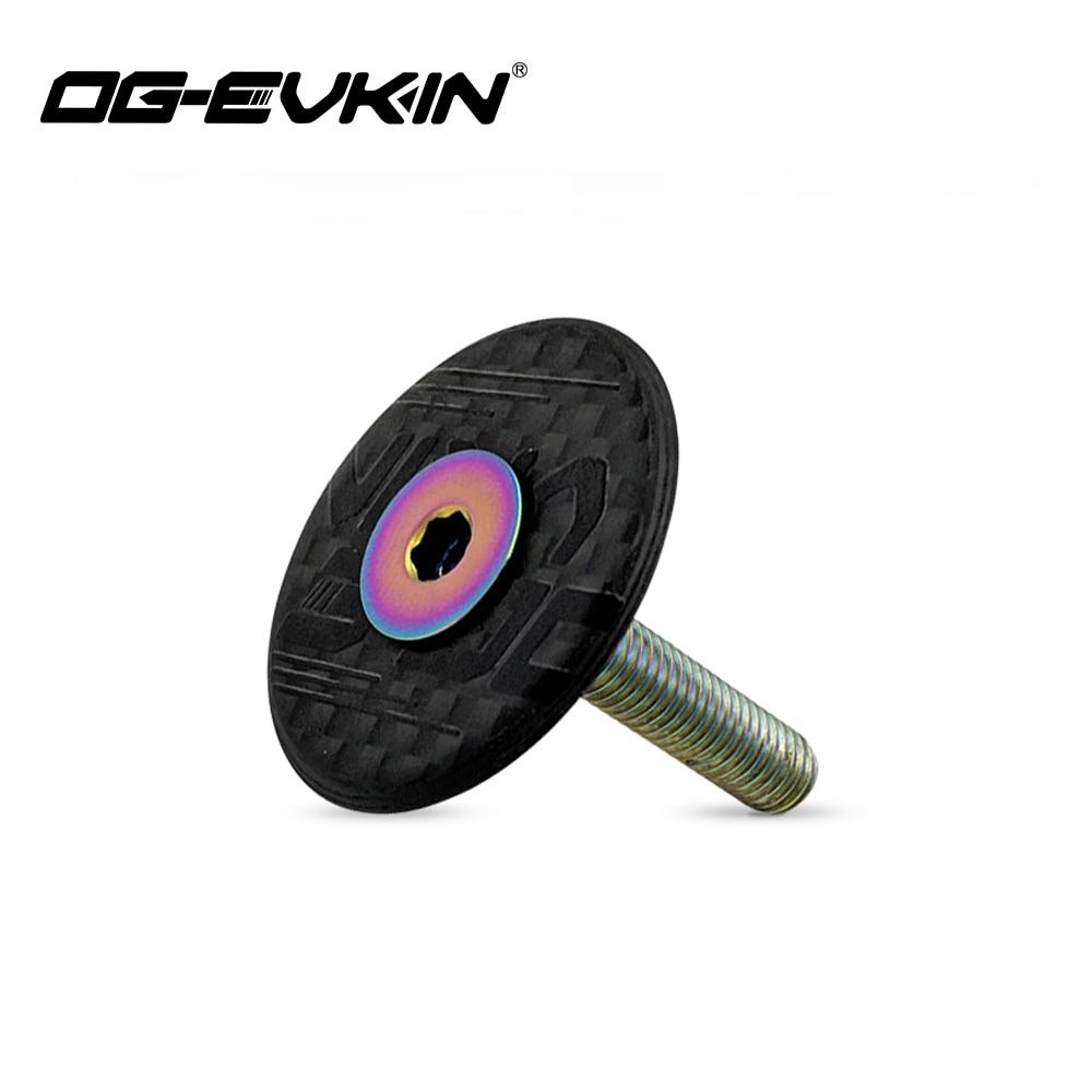 AliExpress - OG-EVKIN HC-001 Carbon Fiber Headset Top Cap Titanium Bolt M6 x 35mm 1-1/8″ Super Light 6.2G Bicycle Accessories For Bicycle