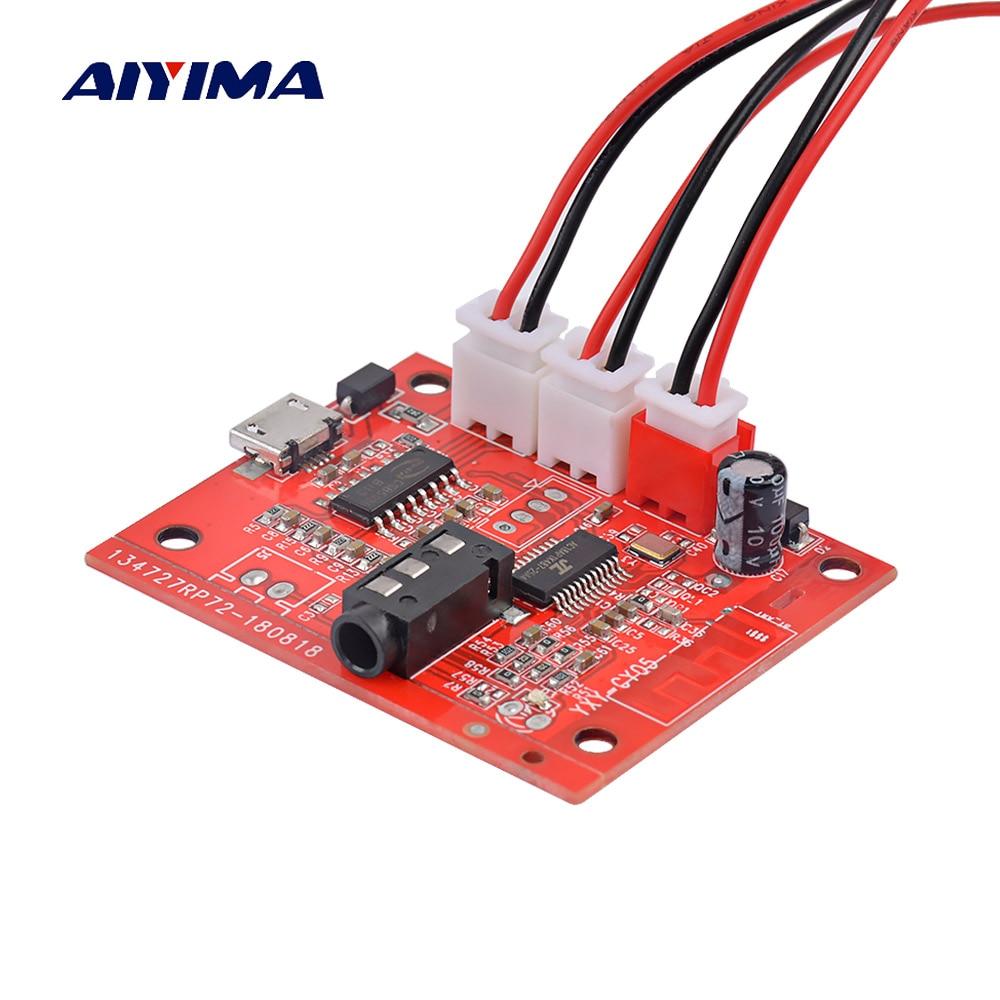 AIYIMA Bluetooth 4,2 Amplificador tarjeta de audio 5W * 2 Amplificador estéreo AUX inalámbrico Bluetooth recepción modificación DC3.7-5V