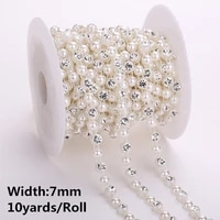 10yards5yards abs pearl crystal rhinestone chain sewing banding trim wedding party supply 30 designs choose