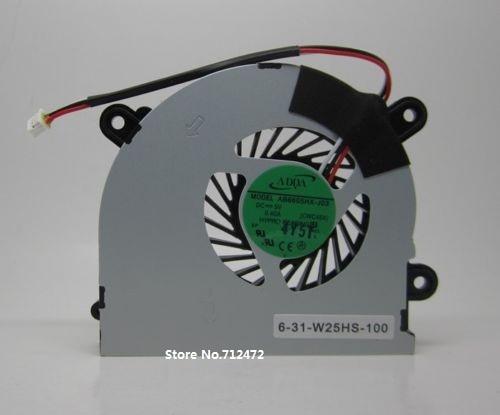 SSEA новый вентилятор охлаждения процессора для MSI S6000 X600 для CLEVO C4500 вентилятор для ноутбука AB6605HX-J03 CWC45X 6-31-W25HS-100