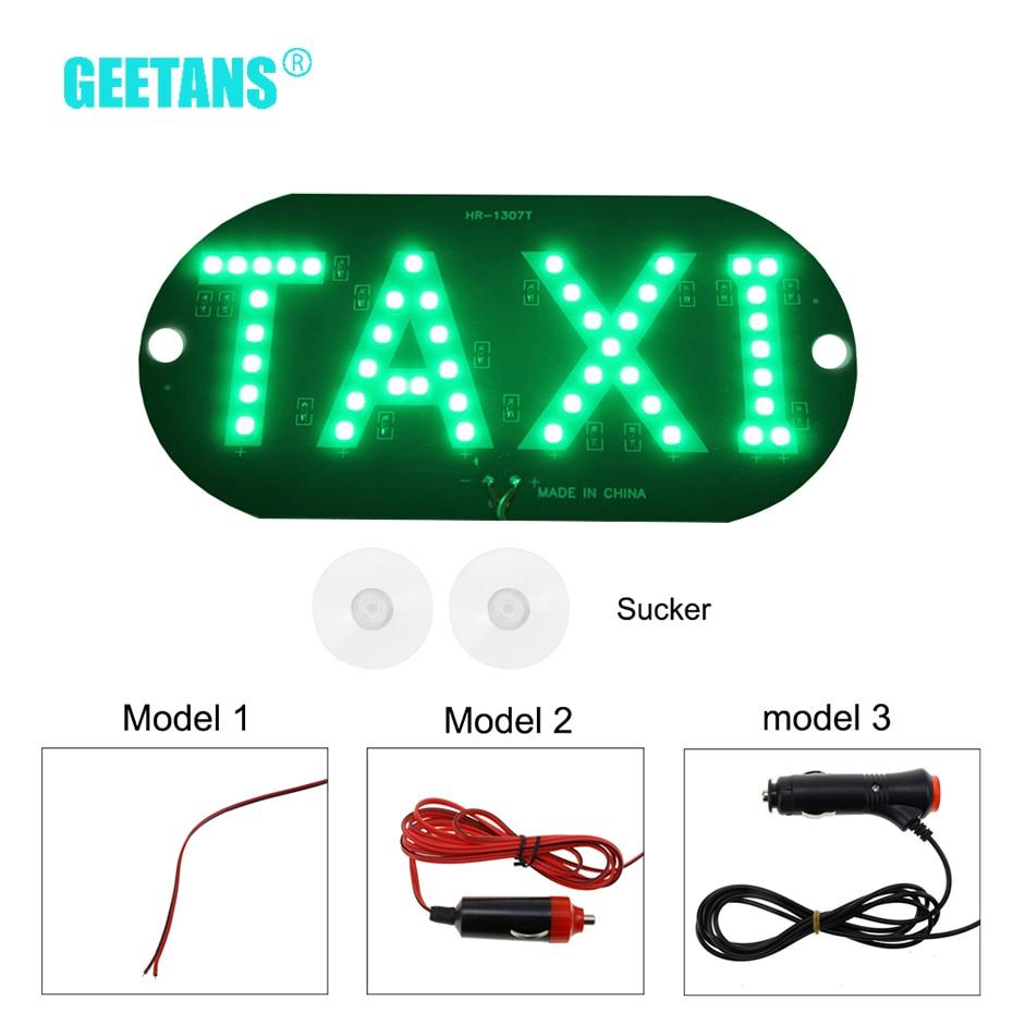 Geetans tamanho grande pára-brisas diy dc12v 45 led drl carro táxi medidor sinal de táxi luz lâmpada 4 cores táxi luz de advertência do carro ce