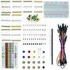Kit Portable Raspberry Pi résistance LED condensateur fils de démarrage platine de prototypage Kit de démarrage pratique pour UNO R3 Raspberry Pi 3 + boîte de vente au détail