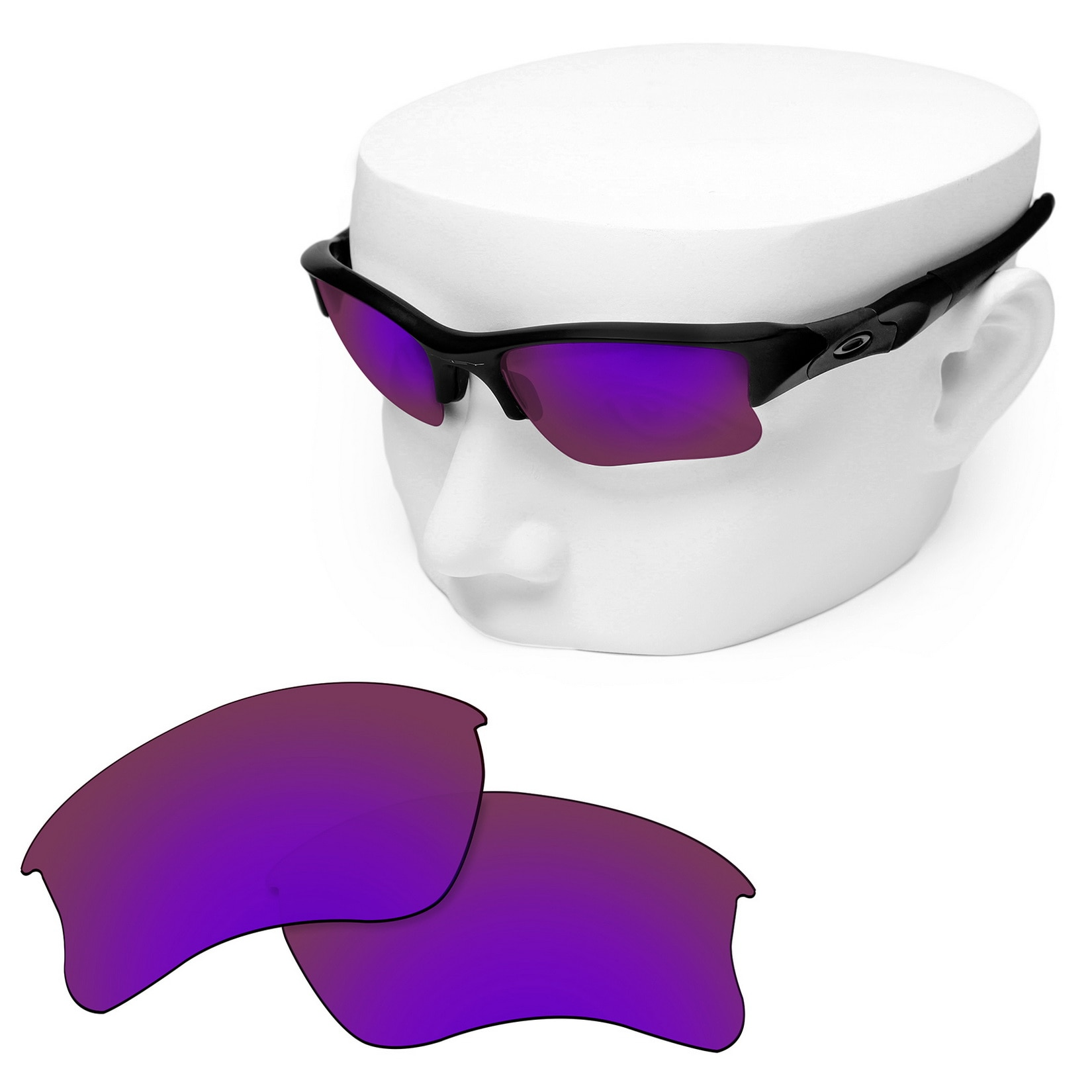 OOWLIT Polarized Replacement Lenses of Purple Mirror for-Oakley Flak Jacket XLJ Sunglasses