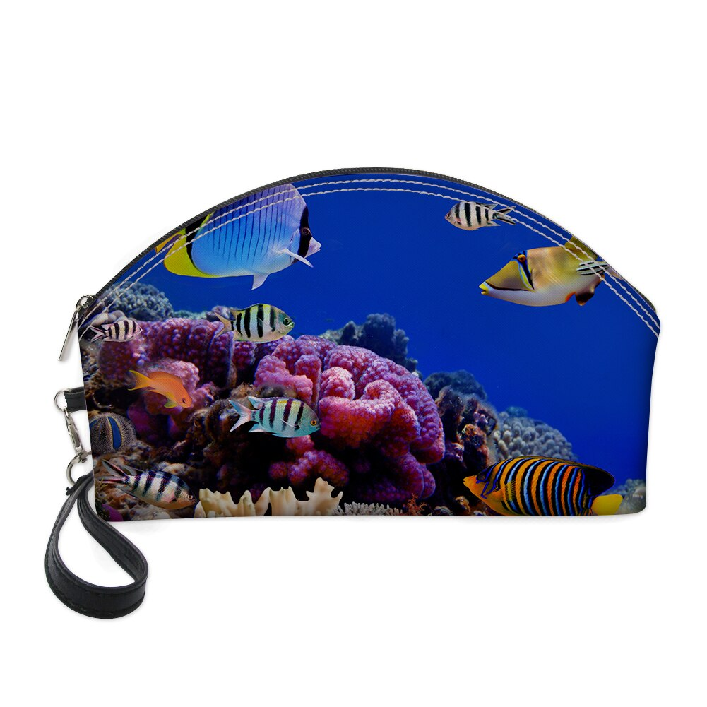 Bolsa de cosméticos estampada 3D FORUDESIGNS con peces tropicales de aguas profundas 2019 estuche de maquillaje profesional Neceser