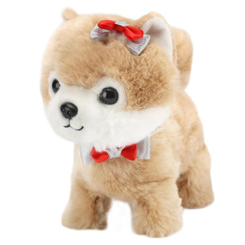 Cão eletrônico robô teddy interativo brinquedos do cão eletrônico pelúcia animal de estimação brinquedo caminhada casca trela brinquedos de pelúcia para crianças
