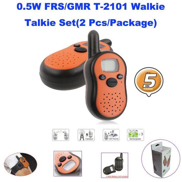 Envío Gratis Mini walkie talkie para niños 0,5 vatios FRS/GMRS Walkie Talkie par con pantalla LCD mini radio set para niños
