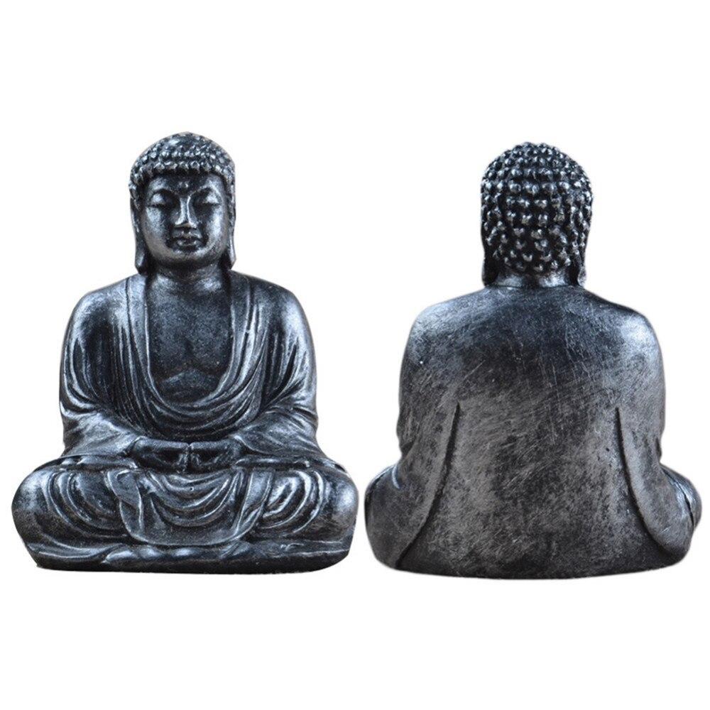 1pcs Mini Buddha Garden Statue Buddha Figure Statue Ornament Resin Meditation Home Table Decoration 7*5cm