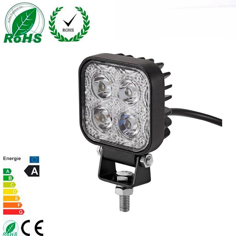 1 unidad 900LM Mini 6 pulgadas 12W 4X3 W barra de luz de trabajo LED coche como luz de trabajo/inundación/luz de punto fuera de la carretera para vehículo SUV ATV