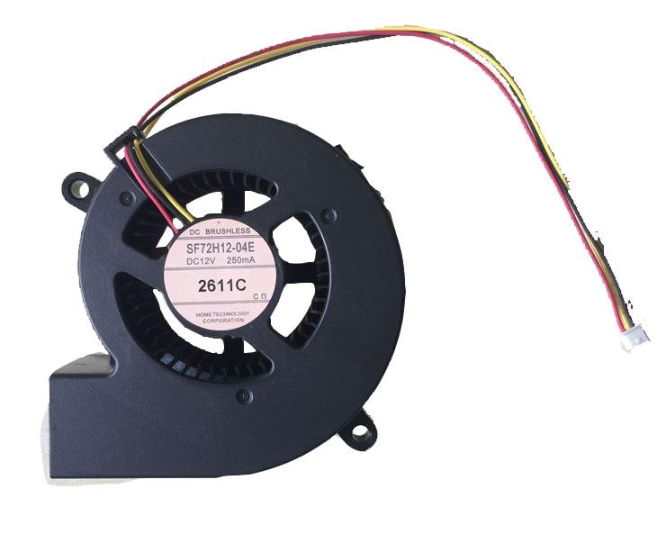Ventilador para Emacro SF72H12-04E DC 12V 250mA 3 cables conector de 3 pines ventilador de refrigeración del servidor