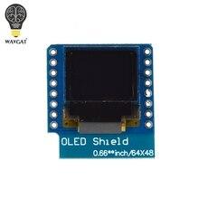 """ESP32 Minikit OLED Schild für WAVGAT D1 mini 0.66 """"zoll 64X48 IIC I2C"""