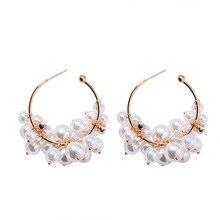 Boucles doreilles Vintage en forme de perles rondes pour femmes, style bohème, style Vintage, style de perles, style exagéré, gouttes