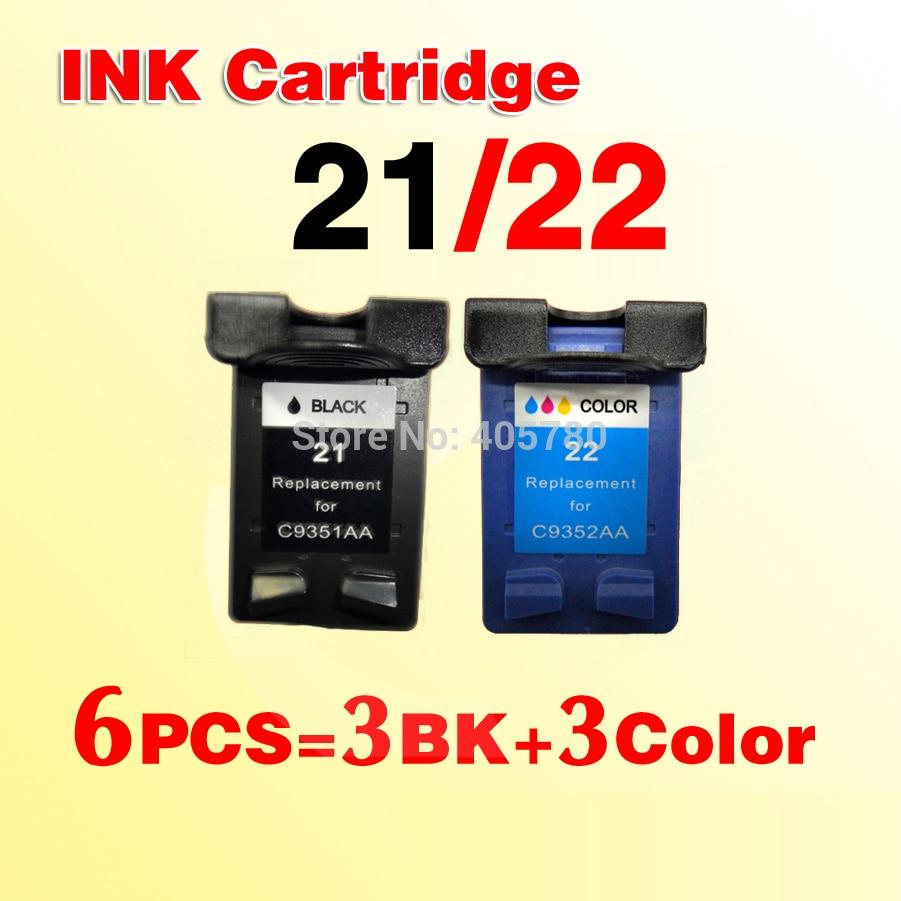 Cartucho de Tinta 21xl para 21 Peças Compatível C9351a C9352a F380 F2100 F2280 F4100 F4180 6 For21 22xl
